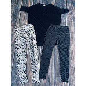 LuLaRoe Black Irma and OS leggings